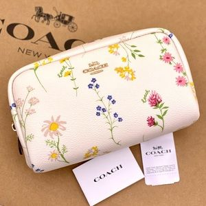 Coach Small Cosmetic Case Wildflower Print